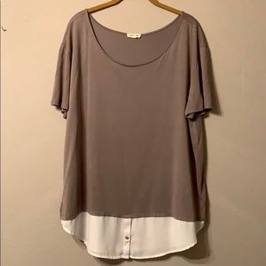 Grey and white cute and casual t shirt